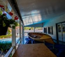 Club de canotage de Cartierville, canot de 38 pieds en restauration