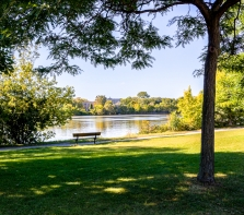 Parc Maurice-Richard sur l\'avenue piétonne Park Stanley